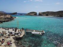 Comino och den blåa lagun malta Arkivfoto