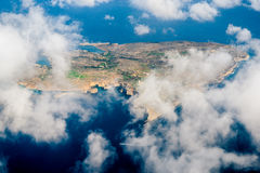 Comino`s dream. The island of Comino, in Malta, from the plane Stock Photos