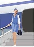 Comissária de bordo Imagem de Stock