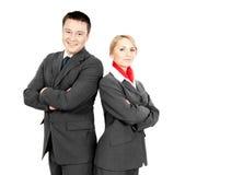 Comissário de bordo & stewardess Imagens de Stock