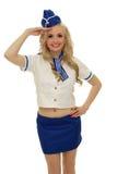 Comissário de bordo de ar Fotos de Stock