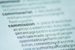 Comissão Imagens de Stock