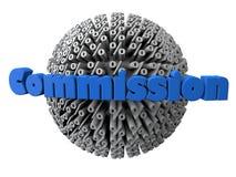 Comissão com a esfera dos símbolos da porcentagem Foto de Stock Royalty Free
