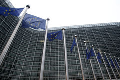 Comissão Européia em Bruxelas foto de stock royalty free