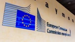 Comissão Europeia da UE Berlaymont fotografia de stock royalty free