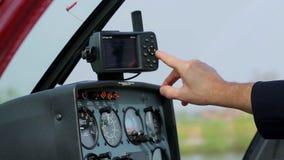 Comité controle van de helikopter stock videobeelden