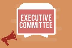 Comité de direction des textes d'écriture de Word Le concept d'affaires pour le groupe de directeurs désignés a l'autorité dans l illustration de vecteur