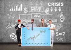 Comité met forex grafiek Stock Afbeeldingen