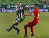 Comité technique v DVTK - tasse hongroise 2-1 de Ferencvarosi Images stock