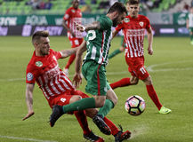 Comité technique v DVTK - tasse hongroise 2-1 de Ferencvarosi Photos stock