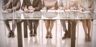 Comité van collectieve personeelsambtenaren in bureau royalty-vrije stock fotografie
