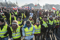 Comitê polonês para a defesa da demonstração da democracia em W imagem de stock