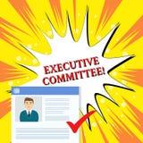 Comit? Ejecutivo del texto de la escritura El grupo del significado del concepto de directores designados tiene autoridad en plan stock de ilustración