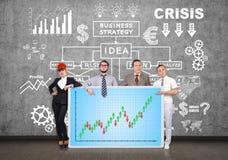 Comité met forex grafiek Stock Fotografie