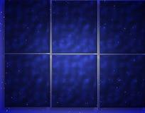 Comitati blu della finestra di inverno Fotografia Stock