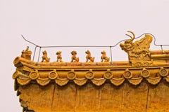 Comitati del tetto con le piccole figure mystical Immagini Stock Libere da Diritti