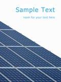Comitati a energia solare Fotografia Stock