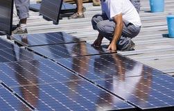 Comitati fotovoltaici Fotografia Stock
