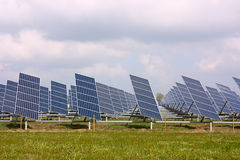 Comitati fotovoltaici Fotografie Stock Libere da Diritti