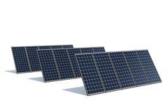 Comitati solari contro una priorità bassa bianca Immagine Stock