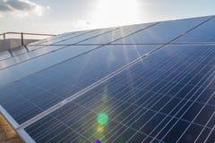 Comitati solari fotovoltaici Fotografia Stock Libera da Diritti