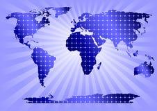Comitati solari globalmente (priorità bassa blu) Fotografia Stock Libera da Diritti