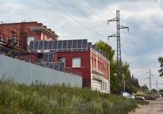 Comitati solari moderni Immagine Stock Libera da Diritti