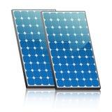 Comitati solari su un tetto Illustrazione Vettoriale