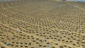 Comitati solari su un tetto L'energia solare una fonte alternativa di energia è pannelli solari Fotografie Stock