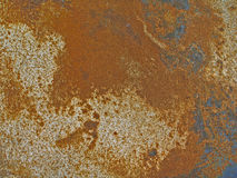 Comitato arrugginito & graffiato del metallo Fotografia Stock