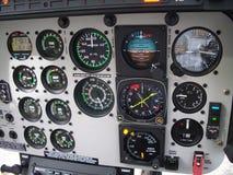 Comitato della cabina di guida dell'elicottero Fotografia Stock