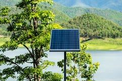 Comitato della pila solare Fotografie Stock