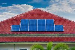 Comitato della pila solare Fotografia Stock Libera da Diritti