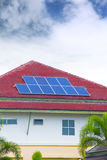 Comitato della pila solare Fotografia Stock