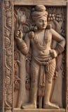 Comitato intagliato, Shanti Stupa, Delhi, India Immagine Stock