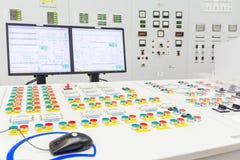 Comitato per il controllo del reattore del blocco della centrale atomica fotografia stock libera da diritti