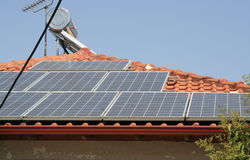 Comitato solare Immagine Stock