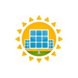 Comitato solare e sole illustrazione vettoriale