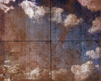 Comitato sporco del cielo Fotografia Stock Libera da Diritti