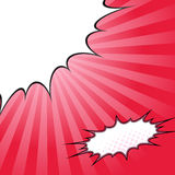Comix style pop-art beam splash background Royalty Free Stock Photography