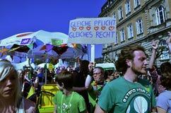 Commémoration de fierté gaie Image libre de droits