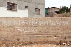 Commémoration de la victime palestinienne de démonstration Photos libres de droits