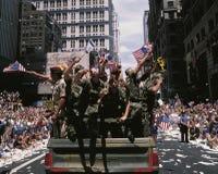 Commémoration du défilé de victoire de tempête du désert Image stock
