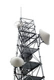 Comm Tower. Communications tower isolated over white background Royalty Free Stock Images