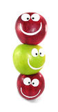 Command from apples. Apples-smilies symbolise themselves a command Royalty Free Stock Photos