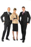 Command of businessmen. Group of businessmen women and men Royalty Free Stock Photography