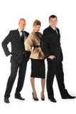 Command of businessmen. Group of businessmen women and men Stock Photography