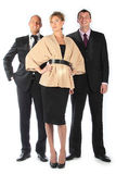 Command of businessmen. Group of businessmen women and men Stock Photos