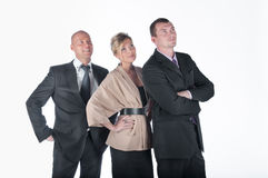 Command of businessmen. Group of businessmen women and men Stock Image