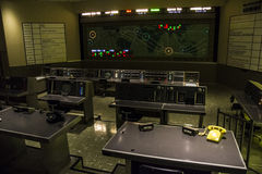 Command center in Kennedy Space Center Stock Photo